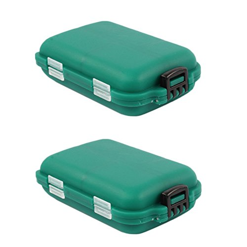 2×Chytaii Angelhaken Box Köderbox Angelbox Fischhaken Aufbewahrungsbehälter für Angelhaken Köder Kleinteile