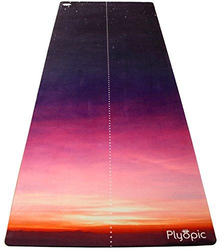 Plyopic Esterilla de Yoga y Pilates | Antideslizante Colchoneta/Toalla de Lujo. Natural y Ecológica | Diseñada para el Agarre en tu Práctica ya Sea en Seco o con Sudor