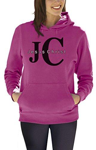 JC Jesus Christ Christus Weihnachten Kirche Frauen Rosa X-Large Kapuzenpullover Hoodie (Kirche Rosa T-shirt)