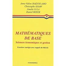 Mathématiques de base sciences économiques et gestion