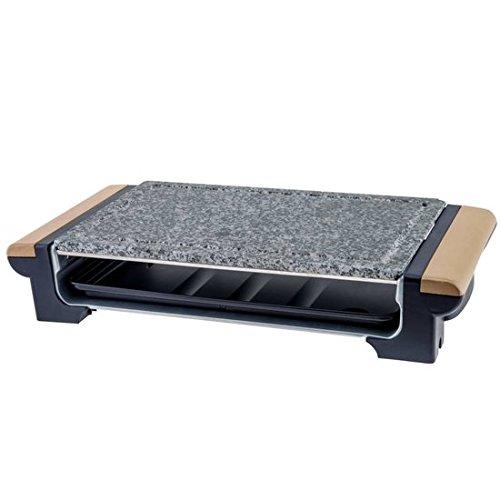 H.Koenig RP320 Barbecue Elektro-Tischgrill / Marmor-Grillplatte / Grillrost / 1300 W / Holzgriffe