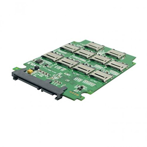 Sytem-S Micro SD TF-Speicherkarte auf SATA SSD-Adapter mit RAID Quad 2.5 Zoll SATA Konverter