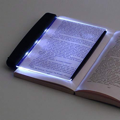 SYXYSM Tischlampe, LED-Buch-Licht Schreibtischlampen Lesenachtlicht Teller flach bewegliche Auto-Reise Panel LED for Heim Innen Schlafzimmer -