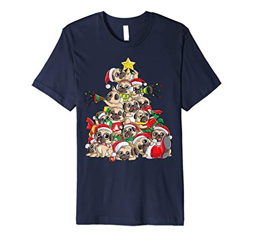 (Pug Christmas Shirt Merry Pugmas Xmas Tree Santa Boys Gifts)