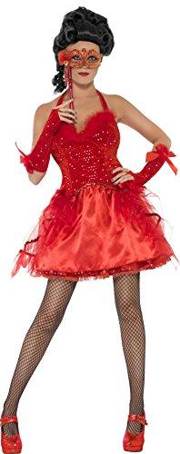 SMIFFYS Costume Halloween Da Diavolo Rosso Del Ballo In Maschera – Orrore Sexy – Donna Large
