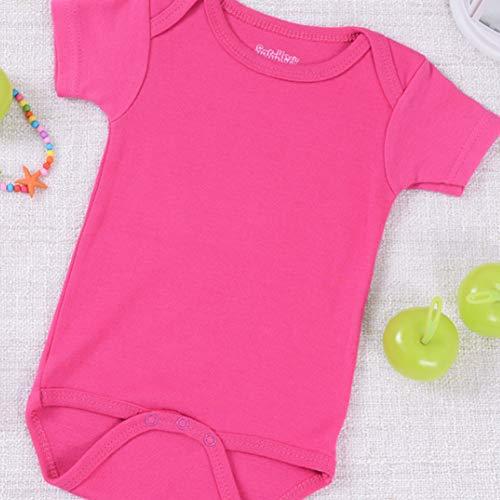 Vêtements de bébé vêtements de bébé Combinaison d'une Seule pièce en Coton à Manches courtes-Rosered-66cm