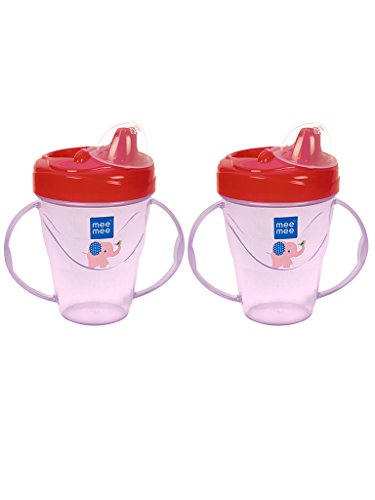 Mee Mee Easy Grip Sipper Cup (Dark Pink, Pack of 2)