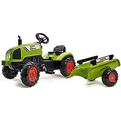 Falk- Tracteur Claas avec remorque et Capot ouvrant Arion, 2041C