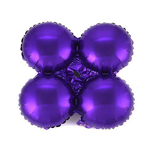 RZRCJ Luftballons (Spielzeug) 10 Stücke 18 Zoll Klee Herzförmige Folienballons Bögen Spalte Halterung Ballon Hochzeit Geburtstag Urlaub Party Dekoration Globos, Runde Lila (Zum Verkauf Haar-bögen Halloween)