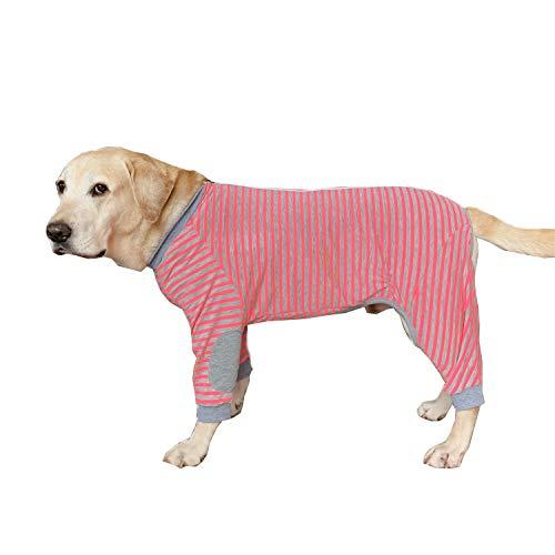 BT Bear - Pijama para Perro Grande, Suave, Flexible, Transpirable, con Cremallera, para Perros medianos y Grandes