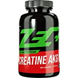 ZEC+ Creatin AKG - 180 Kapseln, hochwirksame Zec Plus Kreatin Kapseln mit Alpha-Ketoglutarat, ideal für intensive Workouts im Kraftsport & Bodybuilding, MADE IN GERMANY