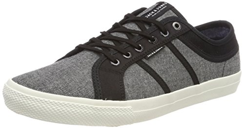 Jack & Jones Jfwross Chambray Mix, Sneakers Basses Homme, Gris (Anthracite), 41 EU