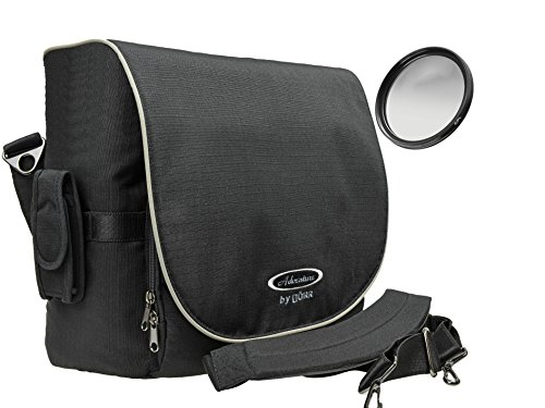 Reise Foto Kamera Tasche Boardcase Set Plus Polfilter 58mm für Canon EOS 1300D 1300D 760D 800D 800D 500D 80D mit 18-55mm is Objektiv