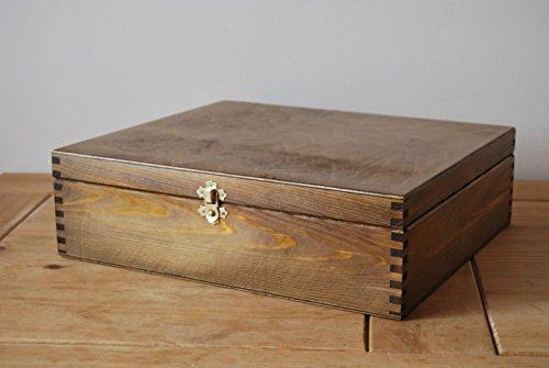 Generic Farbe Deckel abschließbar N Braun Größe Deut H in B New Uni Holz Deckel lockabl Verriegelung in Braun Farbe N Box A4Größe Box A4
