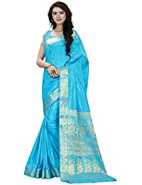 Vatsla Enterprise Women's Silk Saree (VTSLF005SKY45_SKY)