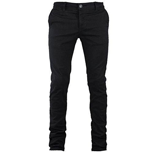 Pantalone Uomo Mod. Tasca America Chino Slim Cotone Elastico Colori Vari GIOSAL-Nero-48