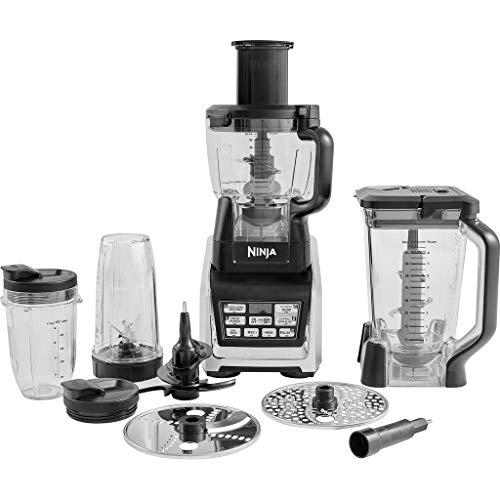 Ninja BL682EU2 3 in 1 Küchenmaschine (1.500 Watt, Smoothie Maker und Standmixer, Hochleistungsmixer...
