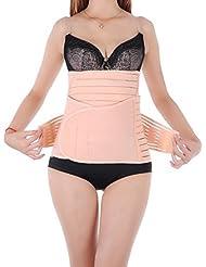 Faja reductora posparto para recuperación de vientre, transpirable, para mejorar el apoyo en vientre, cintura y pelvis, beige, large