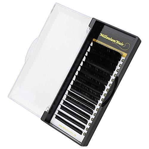 MilleniumHair Silk Lashes - Seidenwimpern - C-Curl - 0,15 mm Stärke - Wimpernverlängerung - gemischte Längen 8-15mm -