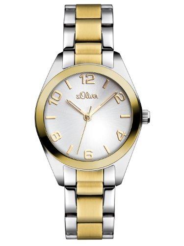 s.Oliver Damen-Armbanduhr Casual XS Analog Quarz Edelstahl SO-2491-MQ