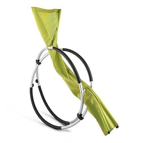 Blumfeldt Chilly Billy • Gartenliege • Liegestuhl • Schaukelliege • Relaxstuhl • ergonomische Wellenform • Sicherheitsstopper • Aluminiumrohr-Konstruktion • atmungsaktives Kunststoffgewebe • pflegeleicht • klappbar • witterungsbeständig • grün - 6