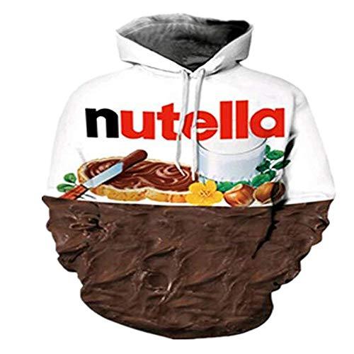 Kapuzenpullover Kreative Neuheit Snack Kekse Brot 3D Hooded Sweater Weiß S