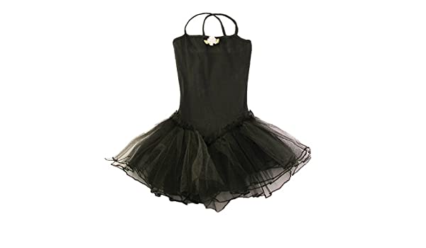 60038c6e49d Reflectionz Black Rosette Tutu Leotard Dance Ballet Dress Girl 8   Reflectionz  Amazon.co.uk  Clothing