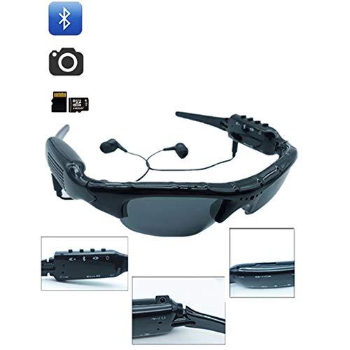 JAY-LONG Sport-Bluetooth-Polarisierte Sonnenbrille, 1080P Full HD-Videoaufnahmekamera UnterstüTzt 32-GB-TF-Karte Und Polarisierte Schutzlinse, MP3 Mit KopfhöRer