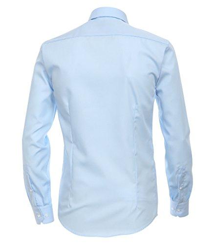 Michaelax-Fashion-Trade -  Camicia classiche  - Basic - Classico  - Maniche lunghe  - Uomo Blau (102)