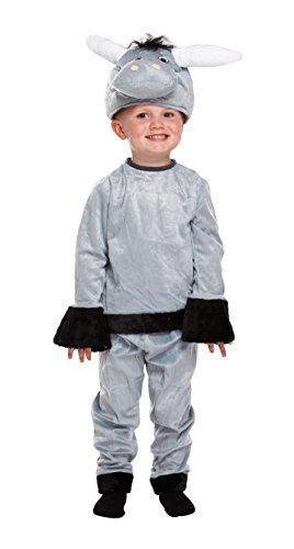 Sofias Schrank Mädchen Kleinkinder Kostüm Kinder Esel Krippe Shrek Farm Spielen, grau