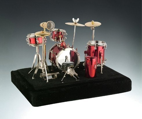 red-drum-set-music-instrument-miniature-replica-on-stand-size-5-x-5-x-4-in-by-broadway-gift
