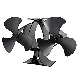 Lincsfire New Designed 6 Blades Heat Powered Stove Fan for Log/Wood Burner Eco Friendly Heating