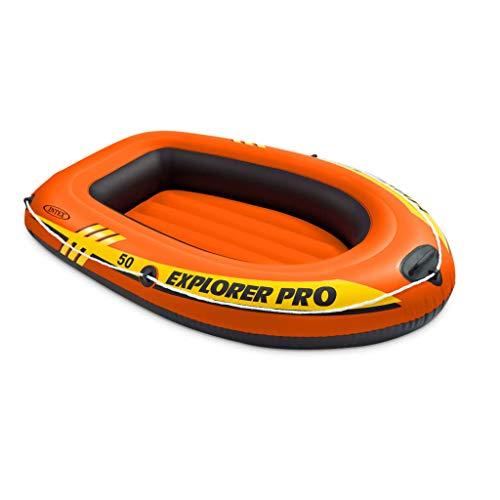 Festnight Schlauchboot | Aufblasbare Boot | Orange Vinyl | 137 x 85 x 23 cm 40 kg