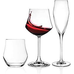 RCR 1159200 Ego Set Vetro, 6 Bicchieri, 12 Calice, 18 Pezzi