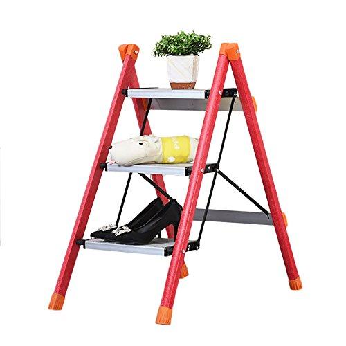 CAOYU Escalera de aislamiento plegable casera de la escalera, escalera del aislamiento de la fibra de vidrio, taburete de la escalera de tres pasos, escalera del pedal de la aleación de aluminio. Tabu