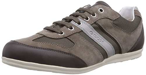 Geox U HOUSTON A, Low-Top Sneaker uomo, Grigio (Grau (DOVE GREYC1018)), 41