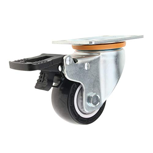 Baoblaze Transportrollen Lenkrolle mit Bremse, Schwerlastrollen, Industrierollen - Weiß