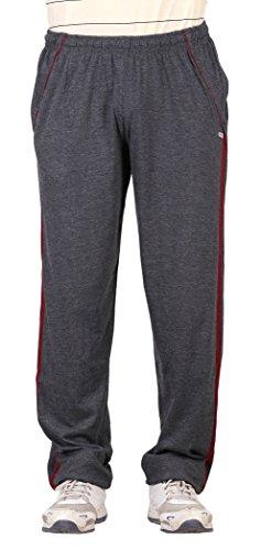 NCI Men's Cotton Track Pant (ncigrey&redstripes--42, Grey, 42)