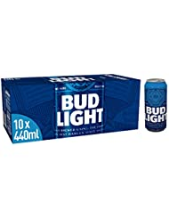 Bud Light Lager Can, 10 x 440 ml