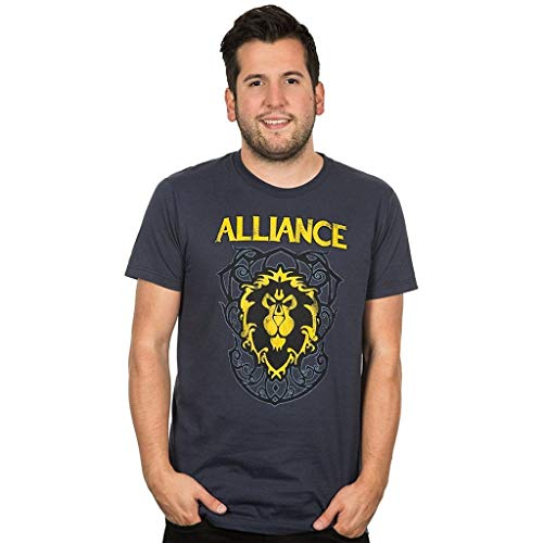JINX World of Warcraft Alliance Crest Version 3 Premium T-Shirt (XL)