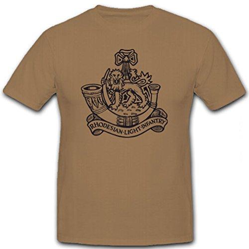 RLI Rhodesian Light Infantry Wappen Abzeichen Emblem Rhodesische leichte Infanterie - T Shirt Herren khaki #5768 (Rhodesian Light)