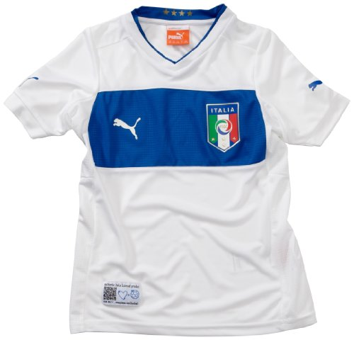 PUMA Kinder Fußballtrikot Italia Away  Replica white