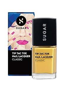 SUGAR Cosmetics Tip Tac Toe Nail Lacquer 071 Mustard Memory (Mustard Yellow), 10 ml