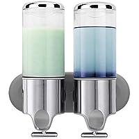 KKCF Dispensador de jabón de Pared montado en Acero Inoxidable desinfectante de Manos dispensador de Metal