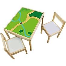 Möbelaufkleber Spielwiese - passend für IKEA LÄTT Kindertisch - Kinderzimmer Spieltisch - Möbel nicht inklusive