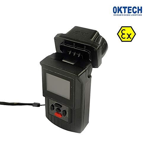 OKTECH JW7117A mit ATEX Zertifikat, explosionssicher, multifunktional, Videoüberwachungsleuchte mit Kamera für gefährliche Bereiche Schwarz -