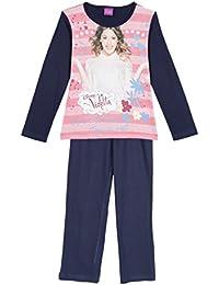 Pyjama long enfant fille Violetta Marine de 6 à 12ans