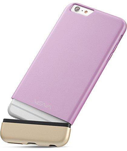 """Apple iPhone 6S 6 hülle, Vena (iSlide) [Dockingstation Freundlich] Schlank Passen Hart PolyCarbonate Case Schutzhülle für Apple iPhone 6 / 6S (4.7"""") (Champagne-Gold / Weiß) Lavender / Champagne-Gold"""