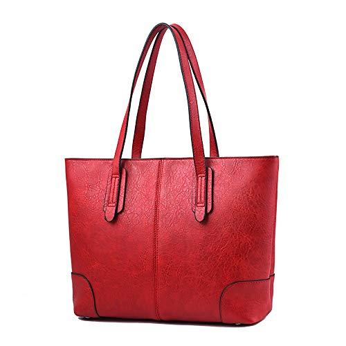 Umhängetasche Frauentasche große Kapazität Retro weiche Damen Umhängetasche kann auch als Damenhandtasche oder Umhängetasche weinrot verwendet werden