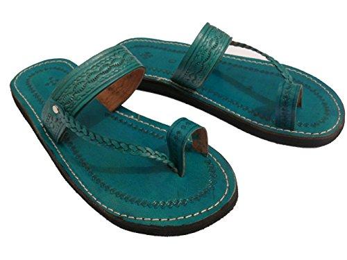 Orientalische Leder Schuhe - Damen Grün